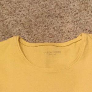 Eileen Fisher gently worn gold cotton top